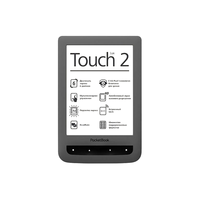 "PocketBook Touch Lux 2, 626 Grey 1GHz/256MB/4Gb flash/WiFi/6"" Eink HD (758x1024)"