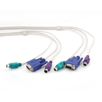 CC-KVM-10  Cable for Workstations CPU switch (CAS-241/441), HD15+MD6+MD6 (M/M),  3,0m