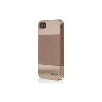 LUXA2 Cygnus LHA0033 ComboCase for iPhone4, PC+Silicon, Neutral Brown