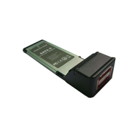 Контроллер Bestek EXP-USB-2P-NEC  USB-2.0 Host Controller Card, NEC720114, 2-port, PCMCIA Express Card (34mm)