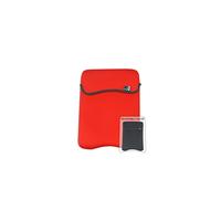 """G-Cube GNR-115RB Neoprene ReversibleColor Laptop Sleev Bag, 15-16.4"""", Size: 40*10*31 cm, (Red/Black)"""