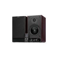 SVEN STREAM R, black (90W, RC uint, 3x line-in),  2.0 / 2x45W RMS, headphone jack, wooden