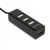 Hub USB2.0 Omega OUH243B , 4 ports, black [42802]