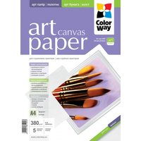 ColorWay Art CottonCanvas Photo Paper A4, 380g, 5pcs
