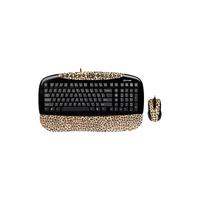 Сет клавиатура мышь G-Cube Kit Keyboard GKSL-2173B Lux Leopard Brown