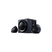 "F&D A110 (Black, 2x11W RMS(4""), 13W subwoofer(4""), 65Hz-20kHz, 65dB, Bass, Wooden-Subwoofer)"