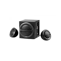 "F&D A111 (Black, MP3/WMA-Player USB/SD/MMC/MS, 2x11W RMS(4""), 13W subwoofer(4""), 65-20kHz, 65dB, Bass, Wooden-Subwoofer)"