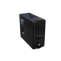 V4 VM34821W2E Black Edition, Middle Tower ATX, 480W PFC, 1-cooler, 2xHD Audio&2xUSB2.0, Transparent SidePanel, Black Thermaltake