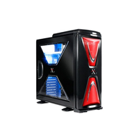 XASERvi MX VH9000BWS MiddleTower ATX, 2-coolers, Audio&2xUSB2.0&E-SATA, Transparent SidePanel, Black/Red Thermaltake