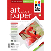 ColorWay Art Cloth MatteFinne Photo Paper A4, 220g, 10pcs