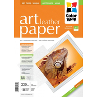 ColorWay Art Leather GlossyFinne Photo Paper A4, 230g, 10pcs