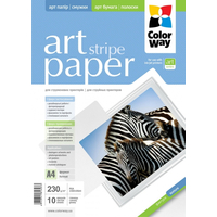 ColorWay Art Stripe GlossyFinne Photo Paper A4, 230g, 10pcs