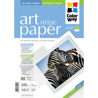 ColorWay Art Stripe MatteFinne Photo Paper A4, 220g, 10pcs