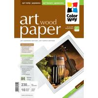 ColorWay Art Wood GlossyFinne Photo Paper A4, 230g, 10pcs