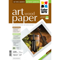 ColorWay Art Wood MatteFinne Photo Paper  A4, 220g, 10pcs
