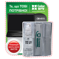 ColorWay CW-4111 LCD Screen Compact Cleaning Kit (Spray + Microfiber Cloth)