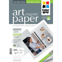ColorWay Magnetic Glossy Photo Paper A4, 690g, 5pcs