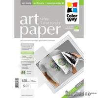 ColorWay Termotransfer MatteCoated Photo Paper A4, 120g, 5pcs