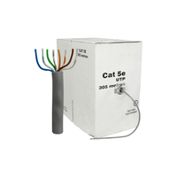 Cable UTP cat.5E 305m, CCA, 24awg 4x2x1/0.50, solid gray, APC Electronic