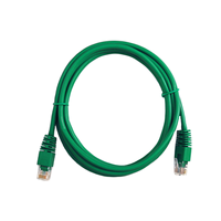 PP12-1M/G  UTP Patch cord cat.5E,  1m    (Green)