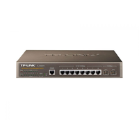 TP-Link TL-SG3210, ManagedSwitch 8-ports 10/100/1000Mbit, 2 Gigabit SFP slots, Port/Tag/MAC/Protocol-based VLAN, GVRP, STP/RSTP/MSTP, Port Isolation