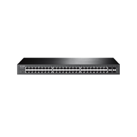 TP-Link TL-SL1351, Switch 48-port 10/100Mbps + 2-port 10/100/1000Mbps, 1 SFP expansion slots supporting  MiniGBIC modules, 19""