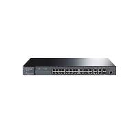 TP-Link TL-SL5428E, FullManagedSwitch 24+4G Gigabit-Uplink, 24-ports 10/100Mbit, 2-ports 10/100/1000Mbit, 2 combo SFP slots, Supports Port/Tag-based/v