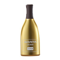 32Gb USB2.0 Flash Drive ADATA, DashDrive UC500, golden  (Read-18MB/s, Write-5MB/s), Retractable Bottle Style