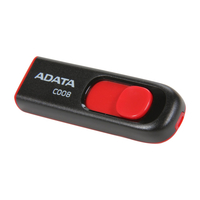 8Gb USB2.0 Flash Drive ADATA, Classic C008, black/red  (Read-18MB/s, Write-5MB/s), Retractable USB