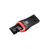 "Card reader Gembird ""FD2-MSD-1"" , Black/Red (MicroSD/MicroSDHC) USB 2.0"