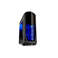 Isolatic 6020 ATX, w/Acrylic windows Side, w/o PSU, support coolers: Rear 1*80/90/120mm+Front 1*140/2*120mm + Top 2*120mm,  Audio & 2xUSB3.0, Black