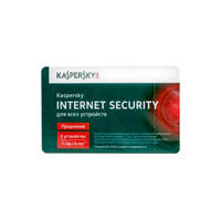 Kaspersky Internet Security Multi-Device 1+1 Dev Renewal Card 1 year