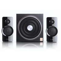 "F&D A320 (GlossyBlack, 2x13W RMS(3""), 15W subwoofer(6.5""), 30-20kHz, 70dB, Bass, Wooden-Subwoofer)"