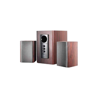"F&D R313 (Cherry, 2x10W RMS(3""), 14W subwoofer(5""), 30-20kHz, 65dB, Treble, Bass, All-Wooden)"
