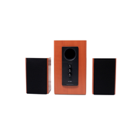 """F&D R313 (Wooden, 2x10W RMS(3""""), 14W subwoofer(5""""), 30-20kHz, 65dB, Treble, Bass, All-Wooden)"""