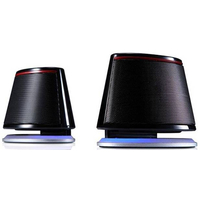 "F&D V620 (Black, 2x1.2W RMS(1.5""), 30-20kHz, 65dB, BlueLighting, USB-Power)"
