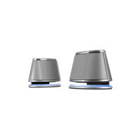 "F&D V620 (Silver, 2x1.2W RMS(1.5""), 30-20kHz, 65dB, BlueLighting, USB-Power)"