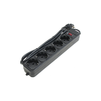 Gembird SPG3-B-10PPB  5-outlets, 3.0m Black