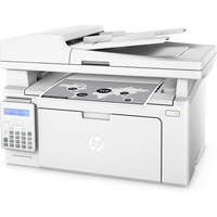 HP LaserJet Pro M130fn, printer/copier/scanner/fax, A4, 256Mb, 600 dpi, 22ppm, 2-line LCD, ADF, LAN, USB2.0, White