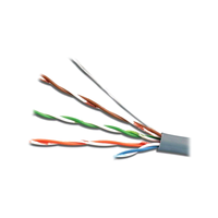Cable  UTP  Cat.5E,  CCA,24awg 4X2X1/0.47, solid gray, APC Electronic (1m)