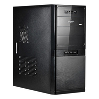 SP1075-500W-E1 MANEO, MiddleTower, ATX, 500W CE (24pin+2SATA), Audio&2xUSB2.0, Black