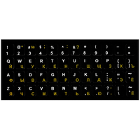 Sticker tastatură EN/RU/RO 13x13.5 mm