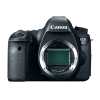 Canon EOS 6D Body, Full HD, 20.2MP Full-Frame CMOS Sensor, Built-In Wi-Fi and GPS Connectivity