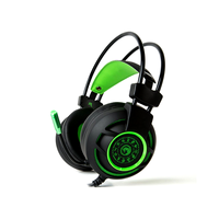 MARVO  HG9012 GR  7.1 USB Wired Gaming Headset, Green