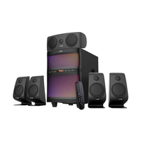 F&D F5060X 5.1 Black, 5x15W(3'+1'), 1x60W(8') subwoofer, RMS 135W, 25~85Hz/60Hz~20kHz, 73dB, BT4.2, USB, FM, AUX, Multicolor LED-light, Remote