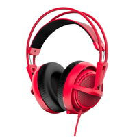 SteelSeries Siberia 200 (10-28kHz, 112dB, 50mm sperakers, 1.8m), USB, Dolby 7.1 Surround, Forged Red