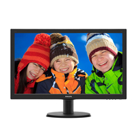 "Monitor 23.6"" WideScreen 0.272 Philips 243V5QHABA, W-LED, 1920*1080@60, 1000:1(10.000000:1), 8ms, TCO, D-Sub, DVI, HDMI, Speakers, Black"
