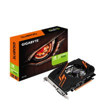 Видео карта Gigabyte GV-N1030OC-2GI GeForce GTX 1030 2Gb (1256/6008Mhz) DDR5 (64bit), Single Fan, DVI+HDMI, Retail