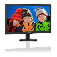 """Monitor 23.6"""" Philips 243V5LHAB5, W-LED, 1920*1080@60, 1ms, D-Sub, DVI, HDMI, Difuzoare audio, Black"""
