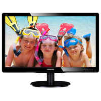 "Monitor 19.5"" Philips 200V4QSBR, MVA LED, 1920*1080@60, 8ms, DSub, DVI, Black"